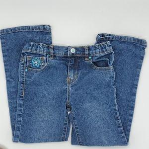 3/$15 Turquoise Floral Arizona Jeans - 6 Regular